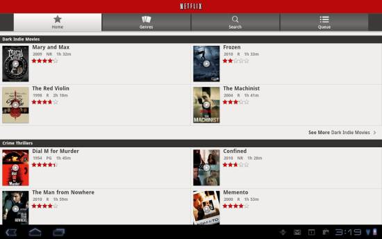 Netflix 1.3 for Android