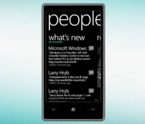 Windows Phone 7 social notifications