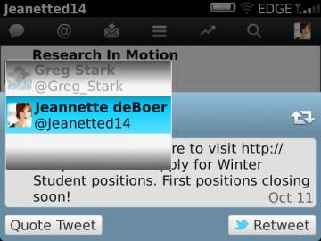 Twitter 2.1 beta for BlackBerry