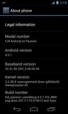 Google Nexus One Android 4.0 ROM